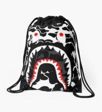 Camo Black Bape Drawstring Bag