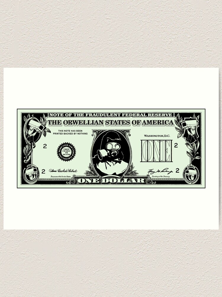 Alternate view of Orwellian Dollar Art Print