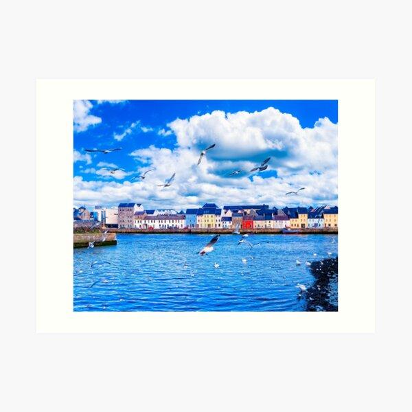 Looking Across Galway Harbor Art Print