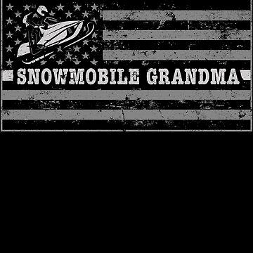 Snowmobile Flag Best Grandma Snowmobile Clothing by shoppzee