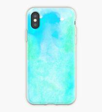 Aquamarine watercolor iPhone Case