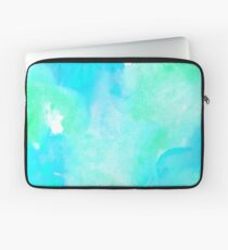 Aquamarine watercolor Laptop Sleeve