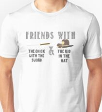 Friends With Sword and Hat - Walking Dead T-Shirt