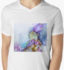 Abstract watercolor - indigo Men's V-Neck T-Shirt