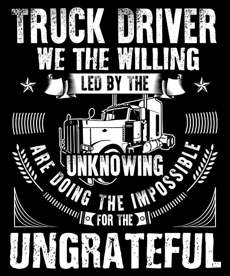 Fun Truck Driver Truck Driver Shirt Trucker Gift Truck Driver Wife Diesel Shirt Truck Driver Accessories Gift For Him Poster By