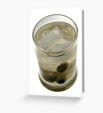 Cocktail Tub style Glass Isolated on White Greeting Card