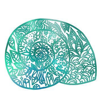mandala seashell by jennieclayton