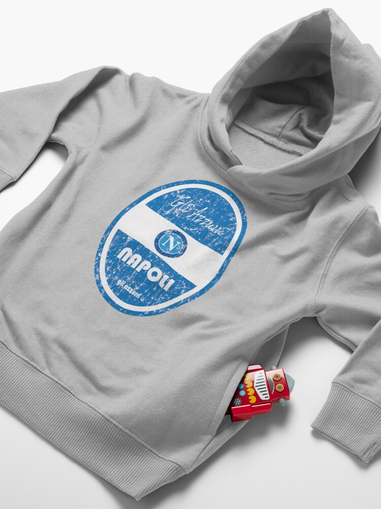 Alternate view of Serie A - Napoli (Distressed) Toddler Pullover Hoodie