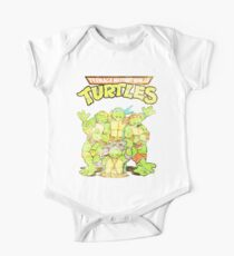 Retro Ninja Turtles Baby Body Kurzarm