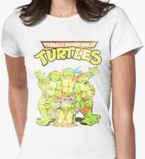 Retro Ninja Turtles Women's Fitted T-Shirt