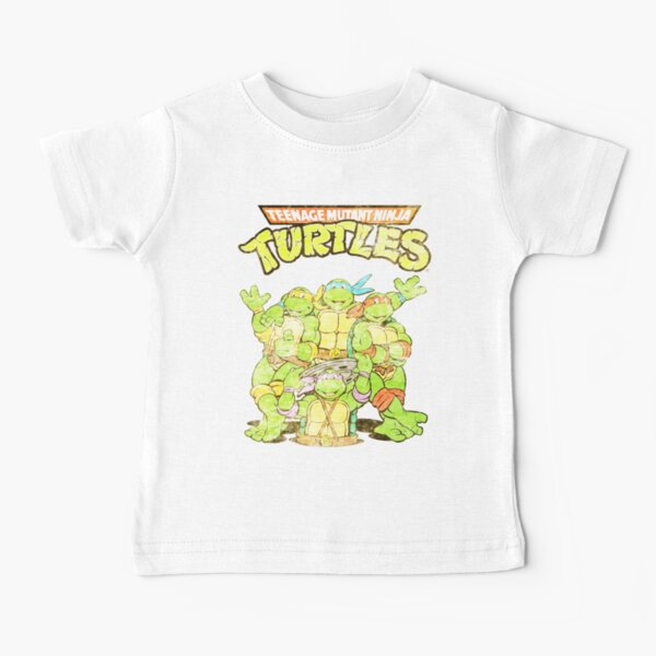 Retro Ninja Turtles Baby T-Shirt