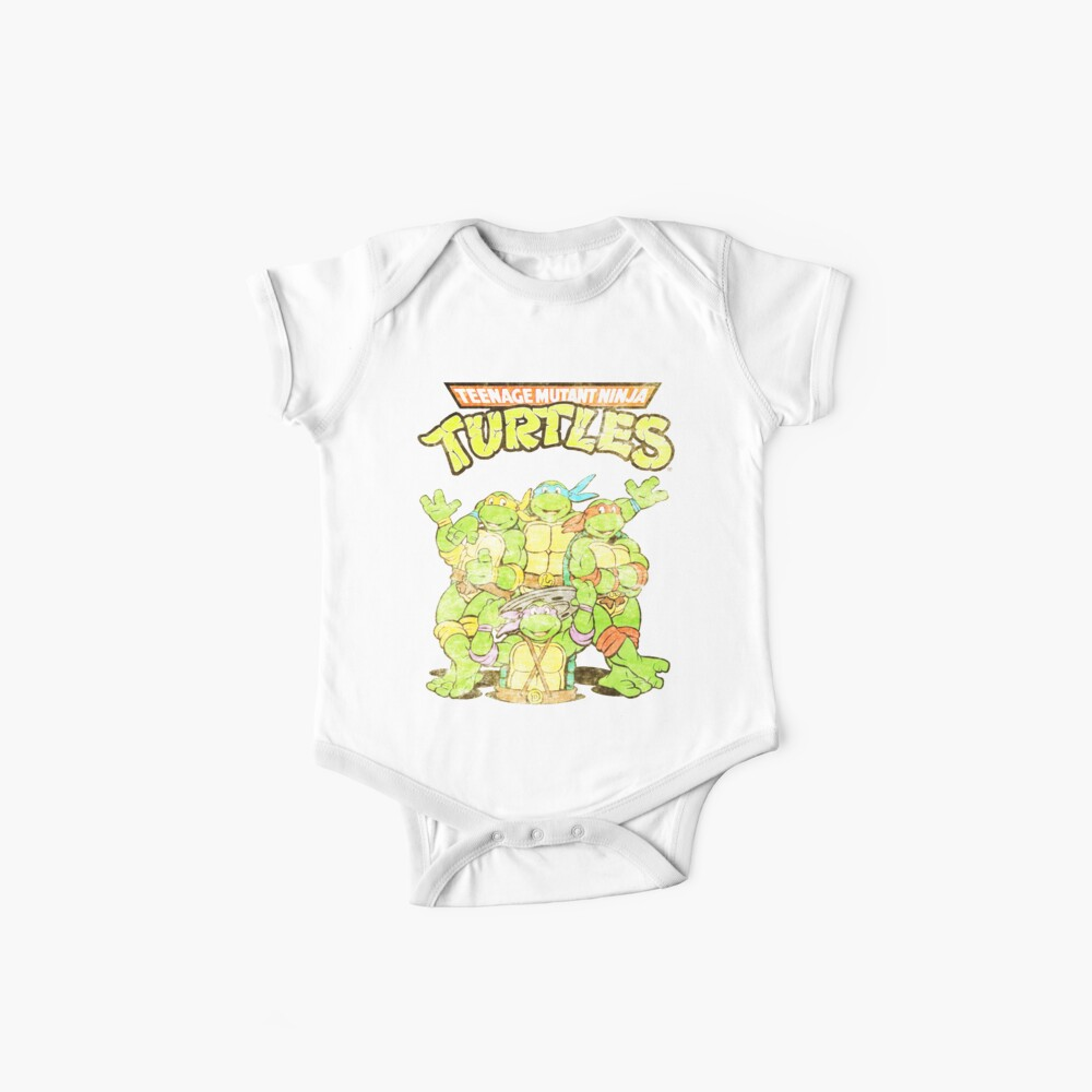 Retro Ninja Turtles Baby One-Pieces