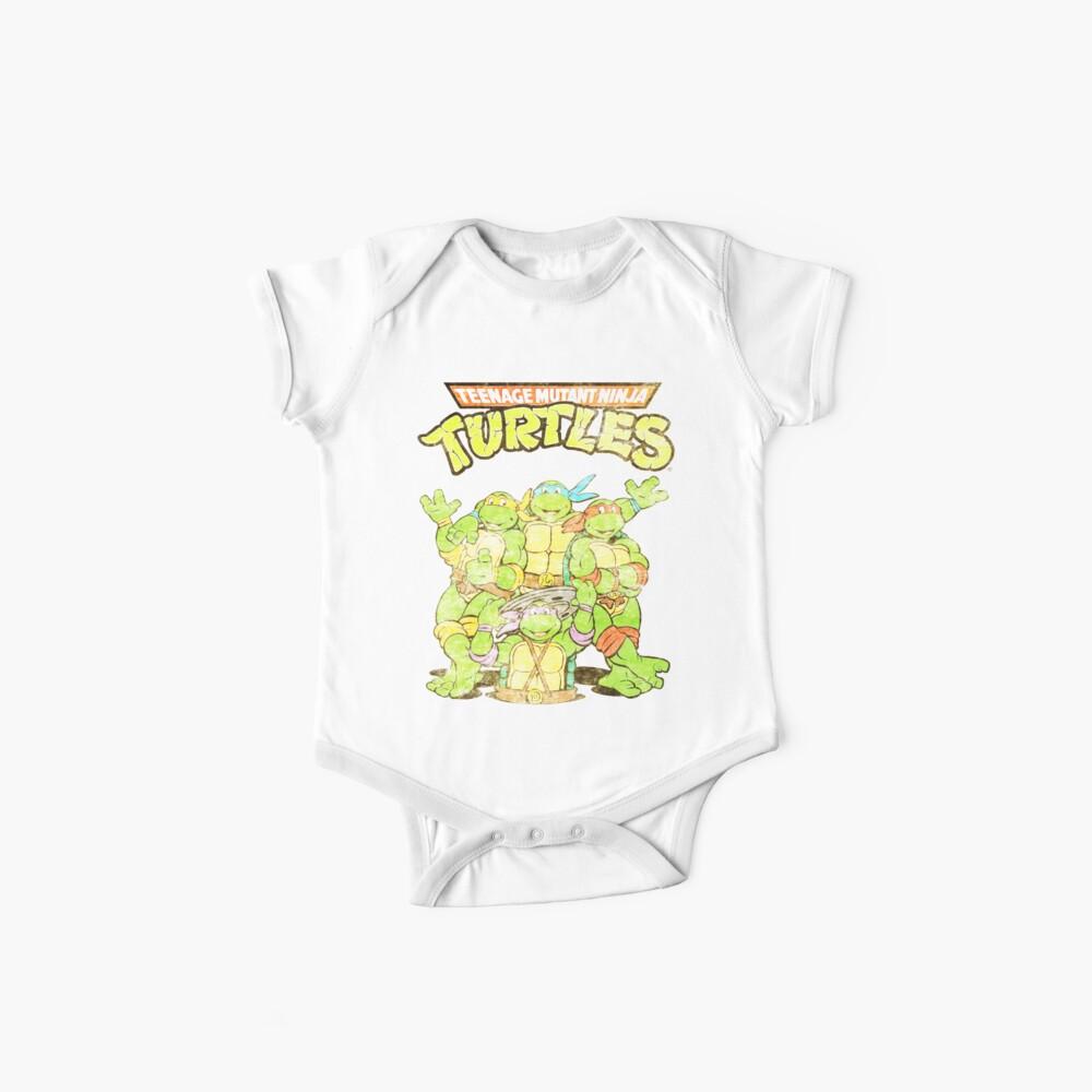 Retro Ninja Turtles Baby One-Pieces