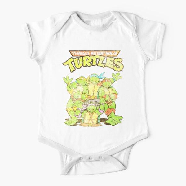 Retro Ninja Turtles Baby Body Kurzarm