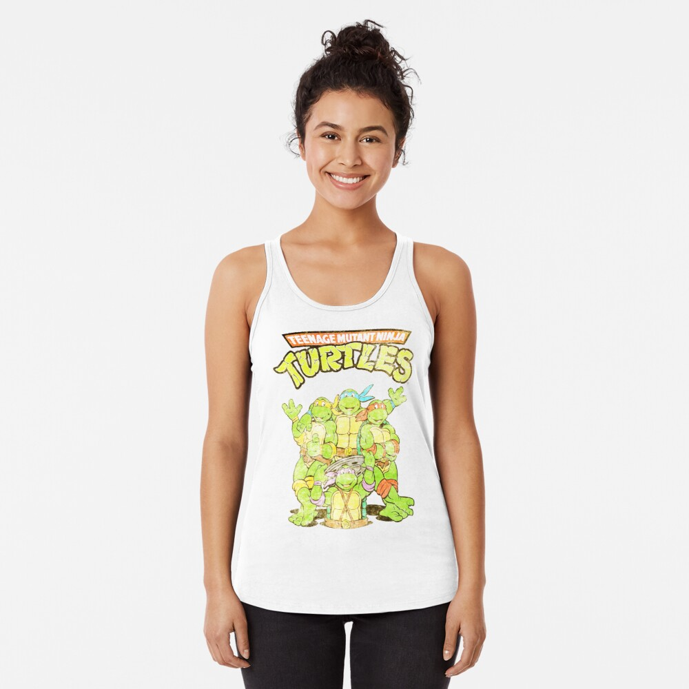 Retro Ninja Turtles Racerback Tank Top
