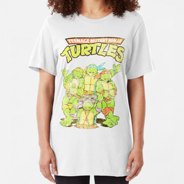 Retro Ninja Turtles Slim Fit T-Shirt