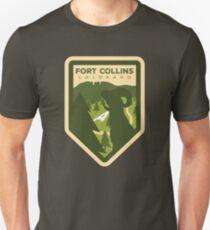 Fort Collins Badge Design Unisex T-Shirt