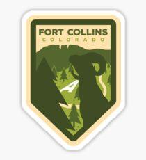 Fort Collins Badge Design Sticker