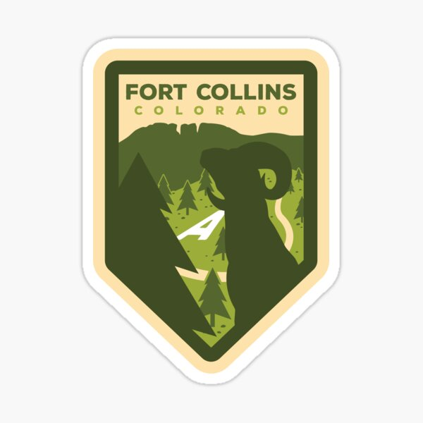 Fort Collins Badge Design Sticker