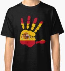 Spain flag in handprint Classic T-Shirt