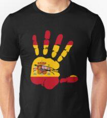 Spain flag in handprint Unisex T-Shirt
