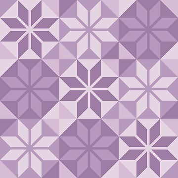 Geometric Pattern: Eight Petal Flower: Purple by redwolfoz