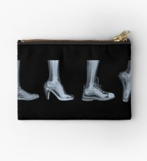 X-ray of a woman's foot in 4 different shoes Studio Pouch