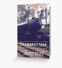 Trainspotters Journal - Sherringham Vintage 1940s Greeting Card