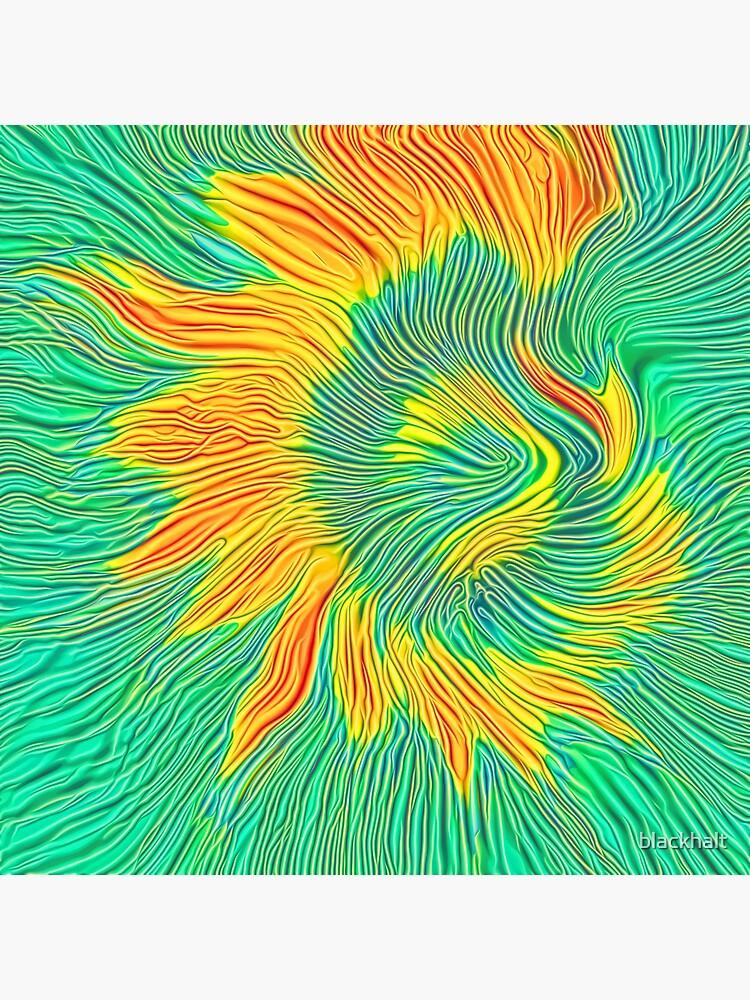 Abstract sunflower   Energy exchange by blackhalt
