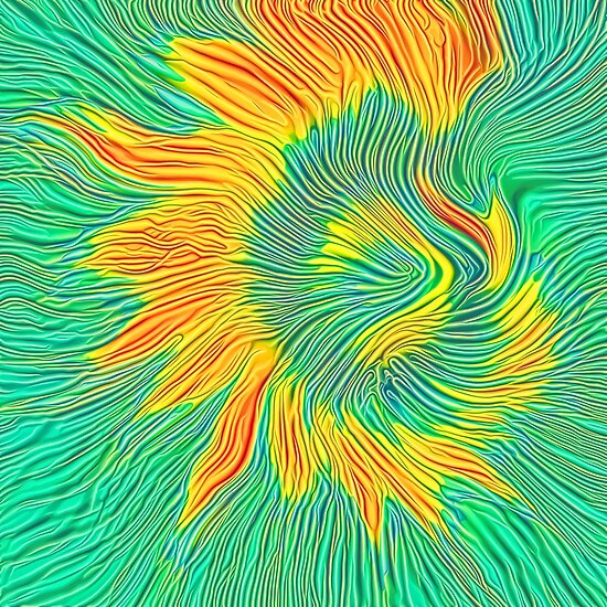 Abstract sunflower | Energy exchange