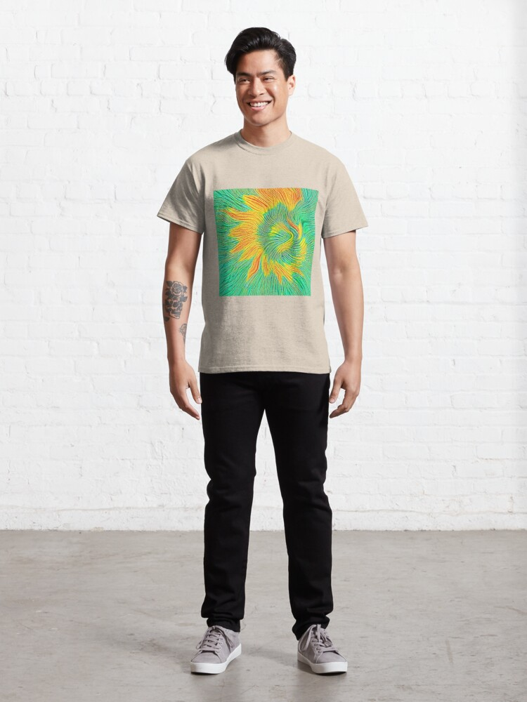 Alternate view of Abstract sunflower | Energy exchange Classic T-Shirt