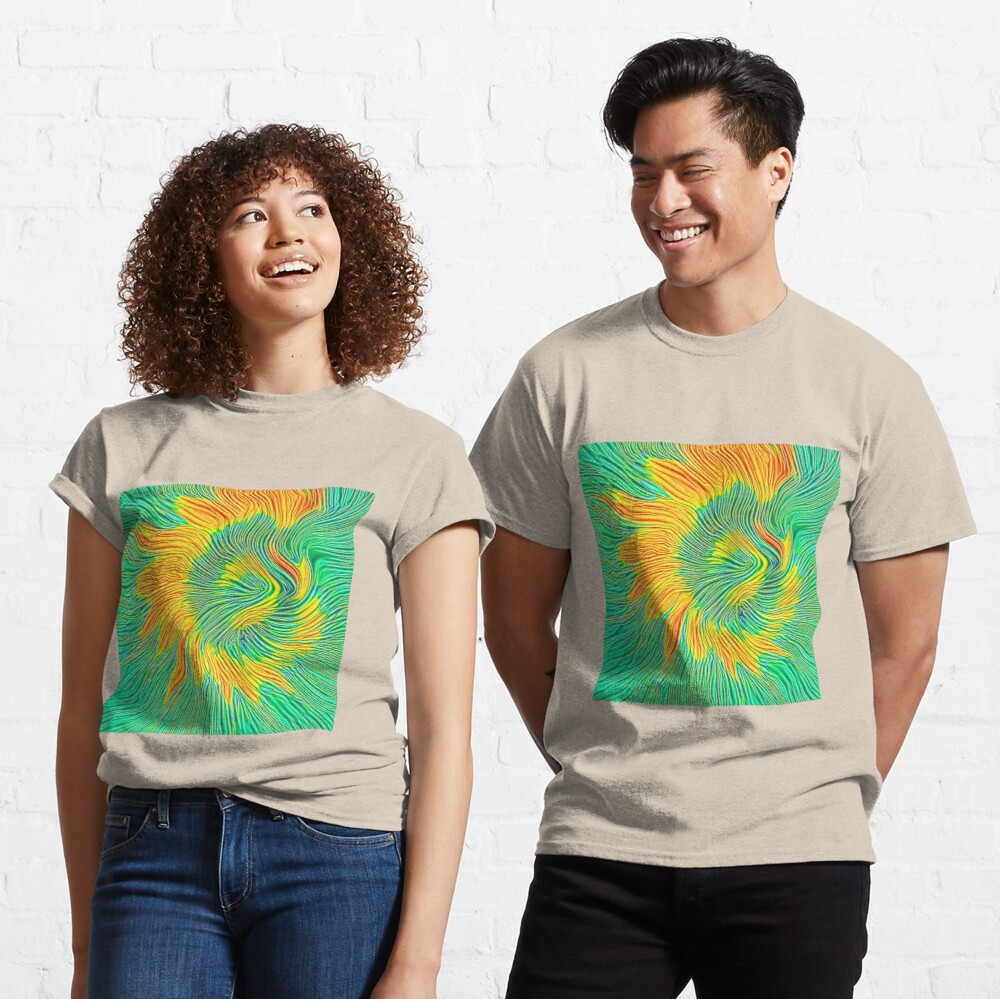 Abstract sunflower | Energy exchange Classic T-Shirt