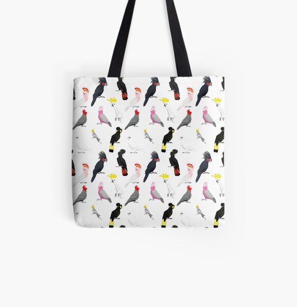 Australian cockatoo pattern All Over Print Tote Bag