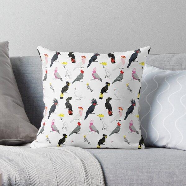 Australian cockatoo pattern Throw Pillow