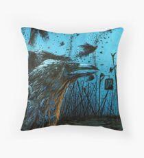 Crows Plague Throw Pillow