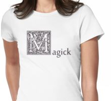 MAGICK Wiccan Pagan Gothic Celtic Druid Purple Knot Flowers Saying Tshirt Shirt Sticker Gifts Womens Fitted T-Shirt