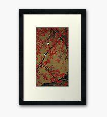 Favourite Artist - Jakuchu Ito - Maple Tree & Small Birds Framed Print