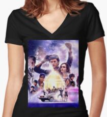 ready player one 2018 Women's Fitted V-Neck T-Shirt
