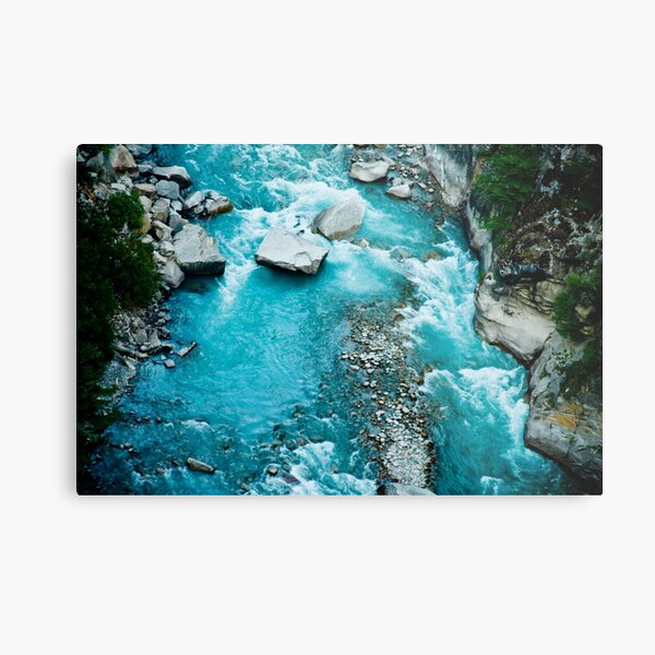 River Ganga in valley Himalayas mountains Metal Print