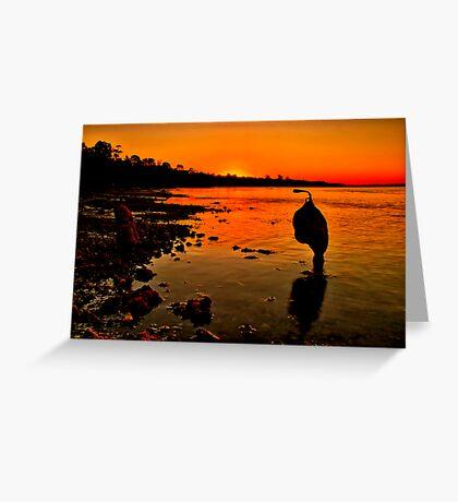 """Sundown"" Greeting Card"