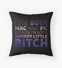 Mac or PC?? I Use Both! Throw Pillow