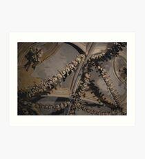 Sedlec Ossuary Ceiling Art Print
