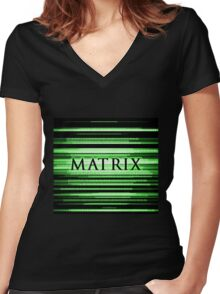Matrix Women's Fitted V-Neck T-Shirt