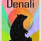 Denali National Park Alaska Colorful Bear by MyHandmadeSigns