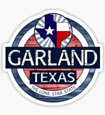 Garland Texas wood circle Sticker