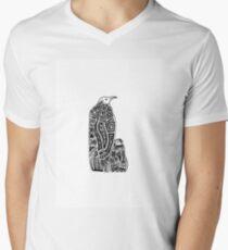 Abstract Penguins Men's V-Neck T-Shirt