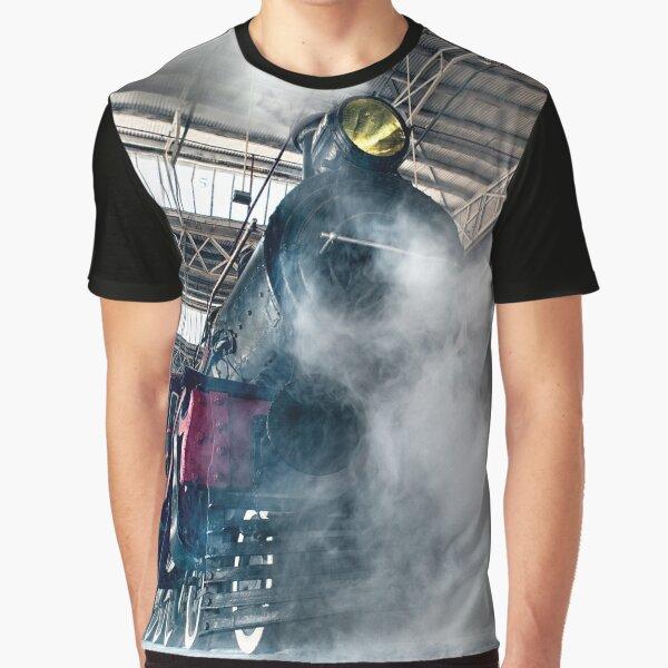 Steam Locomotive Graphic T-Shirt