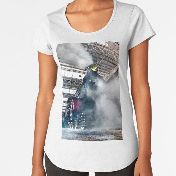 Steam Locomotive Premium Scoop T-Shirt