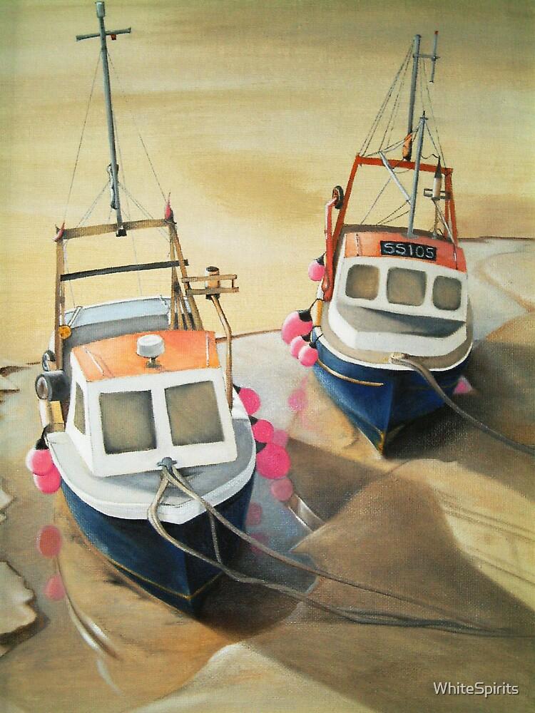 Cornish fishing boats by WhiteSpirits