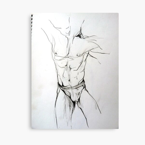 Mannequin study (in pencil) Canvas Print